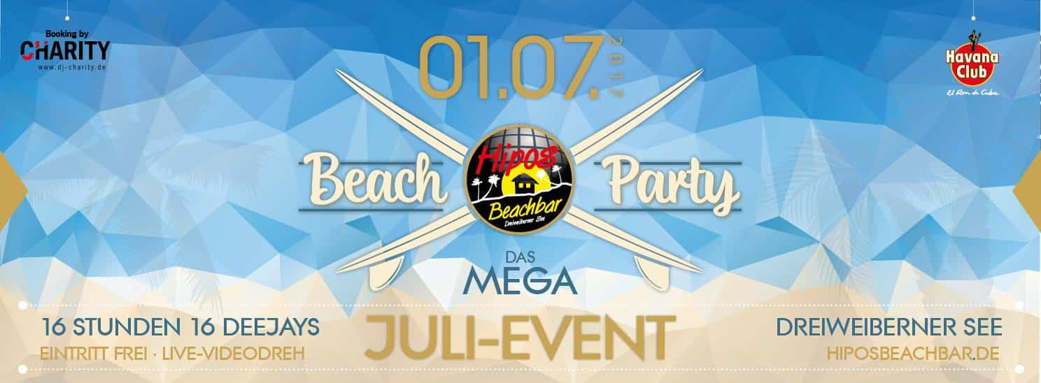 Die MEGA BEACH PARTY @ HiposBeachBar