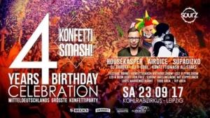 4 YEARS KonfettiSMASH! Birthday // Kohlrabizirkus Leipzig @ Kohlrabizirkus | Leipzig | Germany