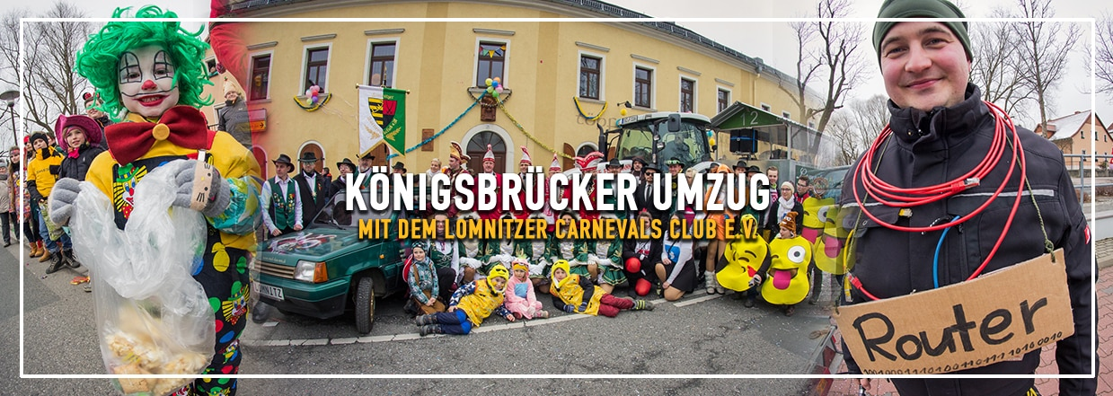 Der 37. Faschingsumzug in Königsbrück mit dem LCC!