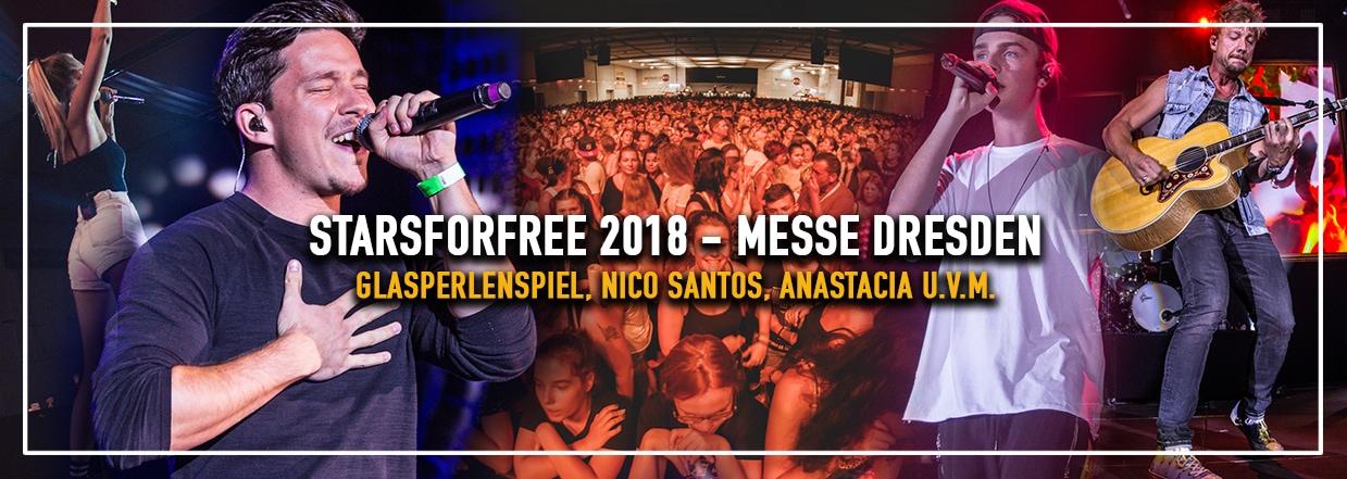 STARSforFREE 2018 in der Messe Dresden