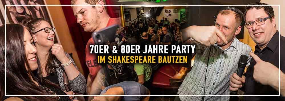 70er & 80er Jahre Party @ Shakespeare Bautzen