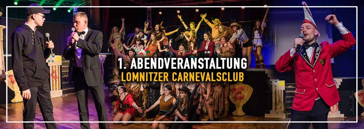 1. Abendveranstaltung des Lomnitzer Carnevals Club 2019!