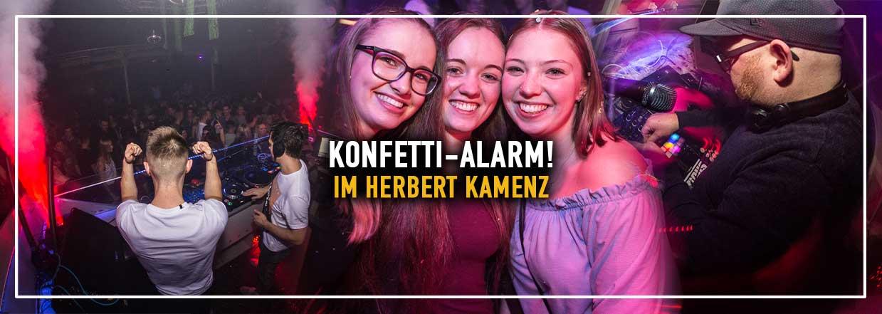 Konfetti-Alarm im Herbert Kamenz!