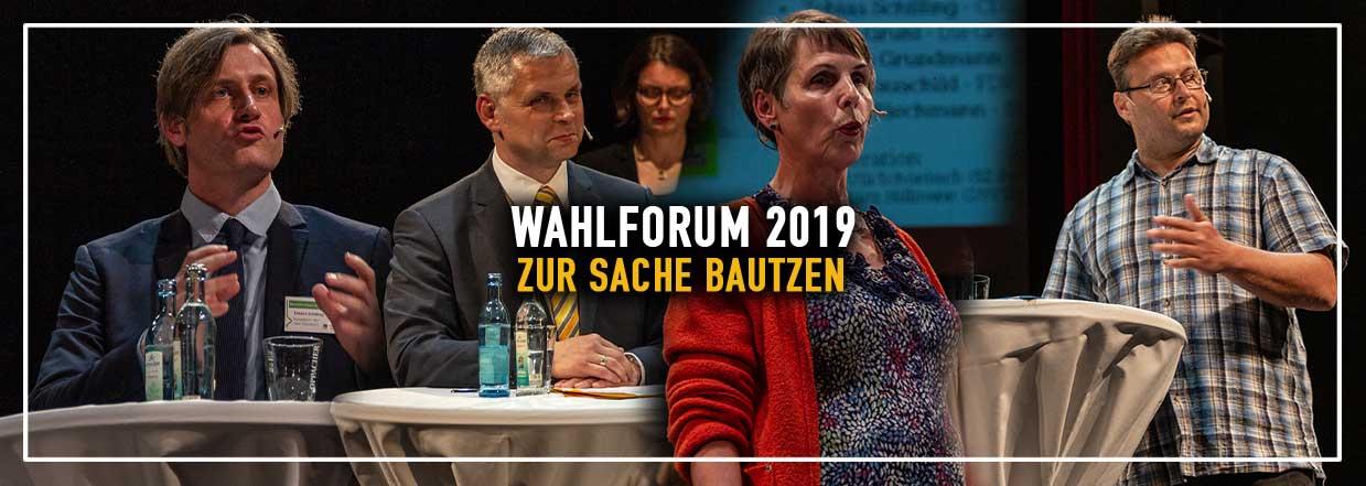 """Wahlforum: """"Zur Sache Bautzen"""""""