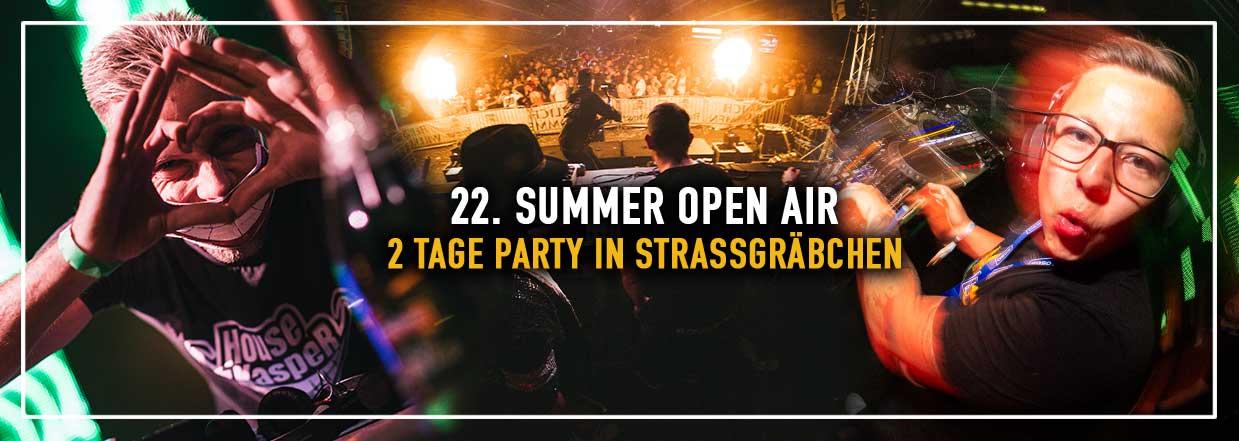 22. SUMMER OPEN AIR in Strasßgräbchen!